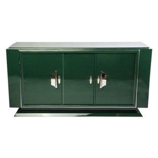 Hunter Green Art Deco Sideboard