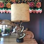 Image of Mid Century Lamp with Fiberglass Shade