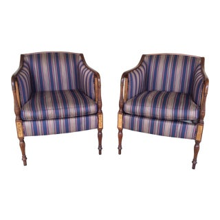 Southwood Mahogany Accent Chairs - a Pair