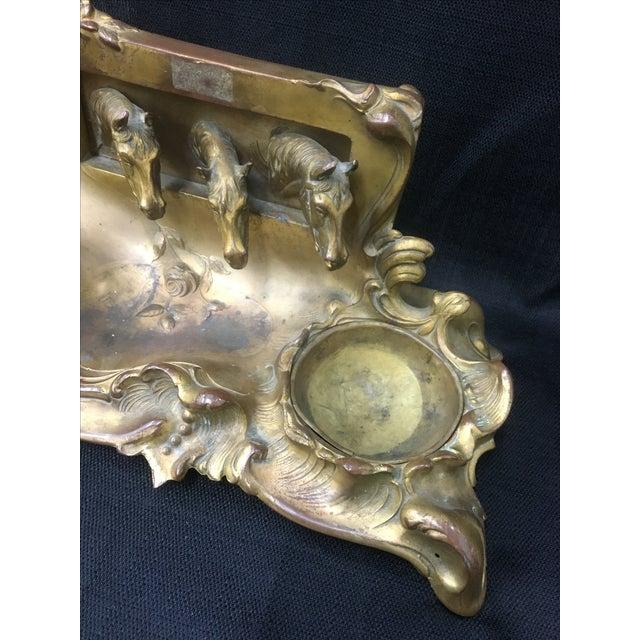Brass Equestrian Desk Caddy - Image 4 of 7
