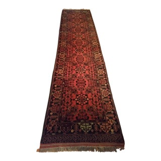 Oriental Rug -- Hand Knotted Long Runner in Jewel Tones