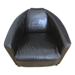 Black Glossy Leather Armchair