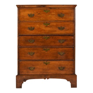 English Pine Wood Highboy Chest