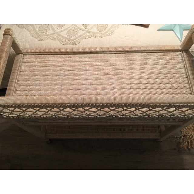 Henry Link Wicker Rolling Console Cart - Image 5 of 10