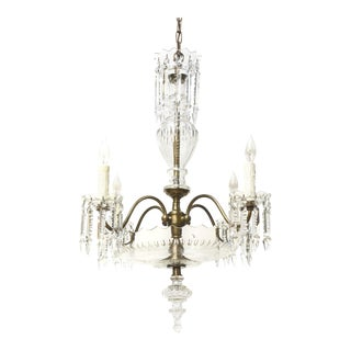 Mid-Century Bohemian Crystal Chandelier