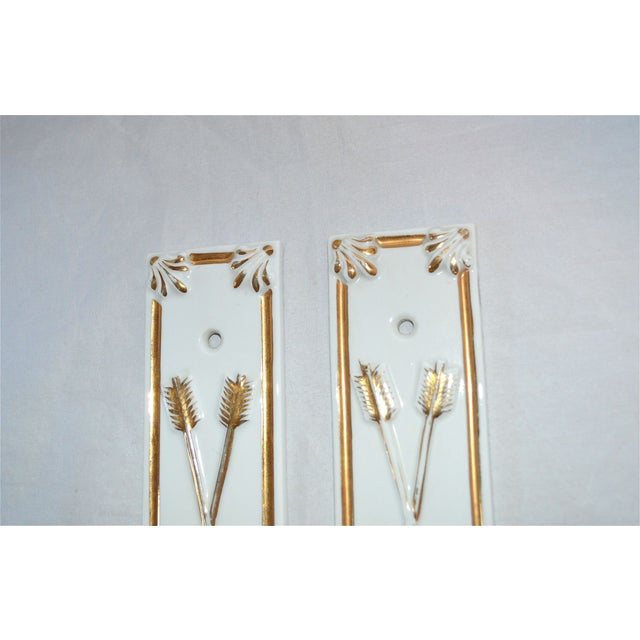 Limoges Golden Arrow Push Plates- A Pair - Image 5 of 9