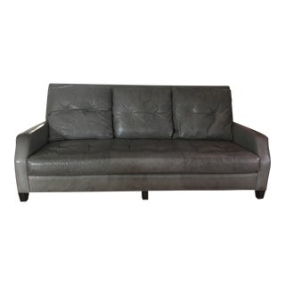 Gray Leather Sofa