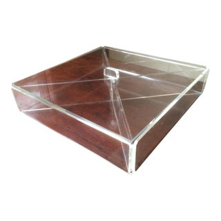 Mid-Century Transparent Lucite Box