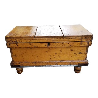 Antique Wooden Gun Chest Coffee Table