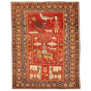 Rare Antique Caucasian Mirasali Rug