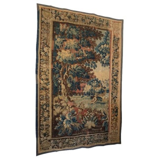 Late 18th-C. French Verdure Tapestry