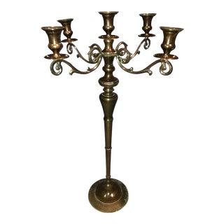 Empire Style Bronze Plated Candelabra