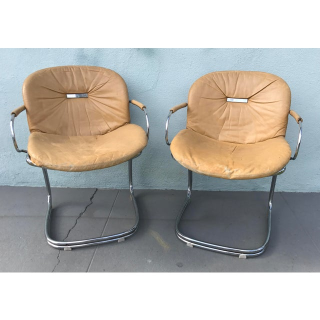 1970s Gastone Rinaldi for Rima Linea Chrome Tubular Chairs - A Pair - Image 2 of 9