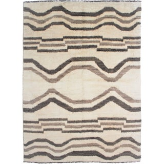 "Aara Rugs Inc. Hand Knotted Navajo Rug - 10'1"" X 8'0"""