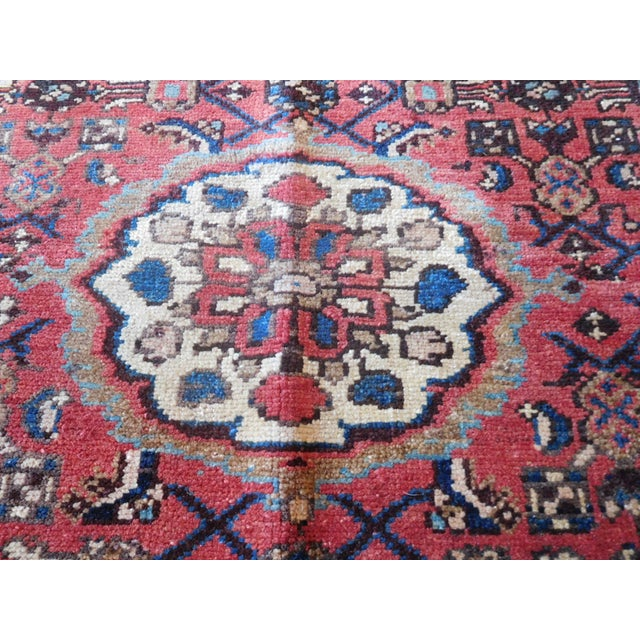 Old Persian Hamadan Rug - 3′7″ × 5′ - Image 7 of 7