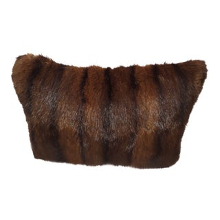Gorgeous Vintage Genuine Brown Fur Pillow