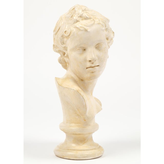 Antique French Plaster Child Bust - Image 4 of 9