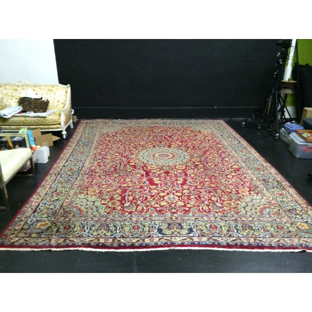 Image of Large Traditional Persian Rug - 12′4″ × 9′6″