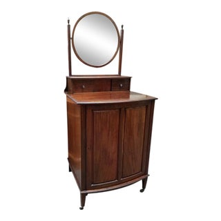 1900 Mahogany Free Standing Pull-Out Shelf Vanity