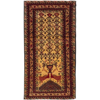 Vintage Persian Baluch Tribal Animal With Bird Motif Rug - 6′1″ X 8'