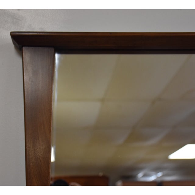Kent Coffey Mid-Century Modern Walnut Mirror - Image 3 of 3