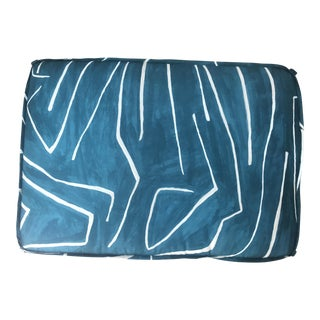 Custom Kelly Wearstler Graffito Fabric Dog Bed / Floor Cushion