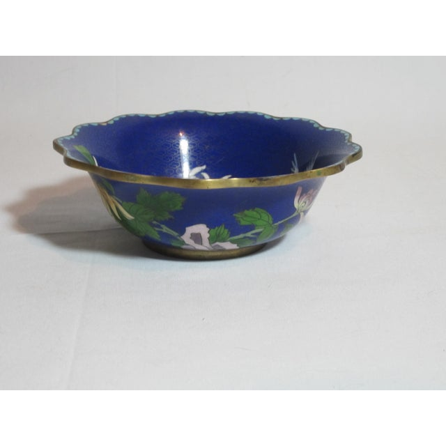 Image of Scalloped Cloisonné Bowl