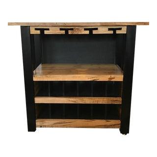"Custom Made Reclaimed Ambrosia Wood ""SoHo"" Bar"
