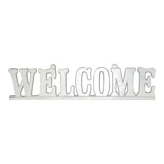 "Vintage Cast Iron ""Welcome"" Hanging Sign"