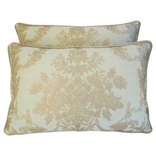Custom Italian Fortuny Boucher Pillows - Pair