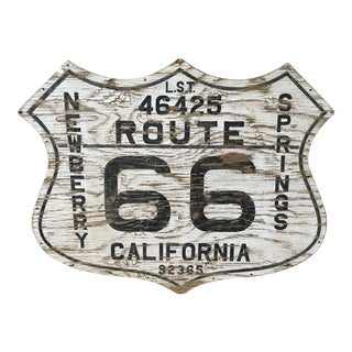 Route 66 Folk Art Sign