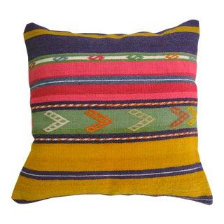 "20"" Vintage Kilim Rug Cushion Pillow Covers Handmade Kelim Wool Cushions Decor"