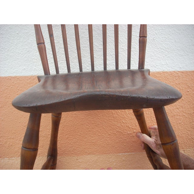 Primitive Windsor Chair - Image 5 of 7
