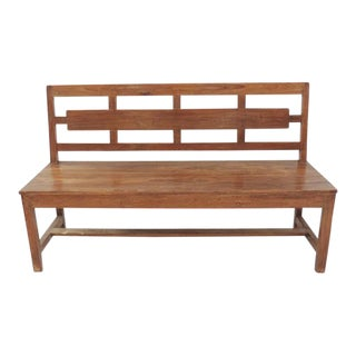 Modern Teak Deco Bench