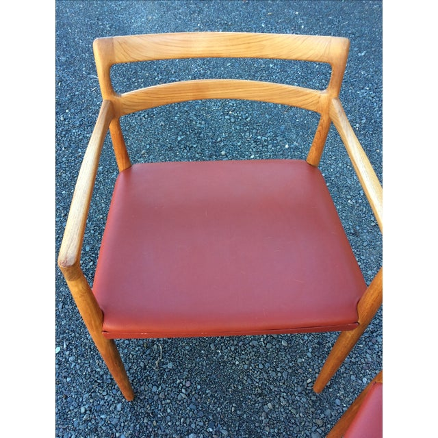 Danish Modern Teak Dining Chairs - Set of 6 - Image 4 of 10