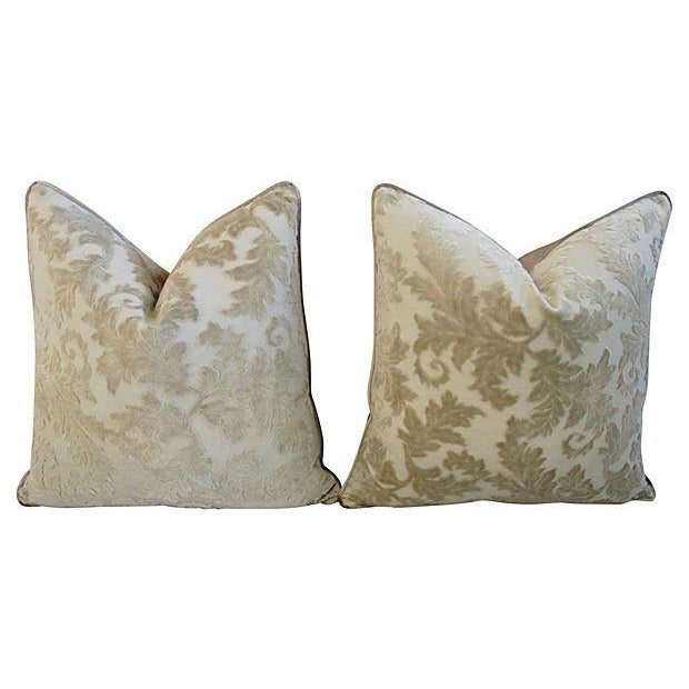 Gray French Cut/Uncut Velvet Pillows - A Pair - Image 7 of 7