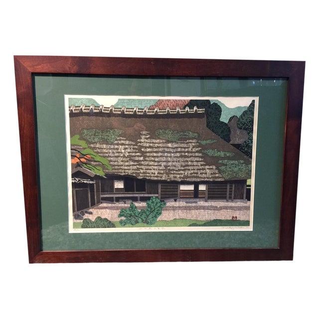 Takehiko Hironaga Large Woodblock Print - Image 1 of 8