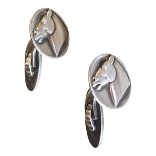 Georg Jensen by Arno Malinowski Cufflinks with Horses No. 63