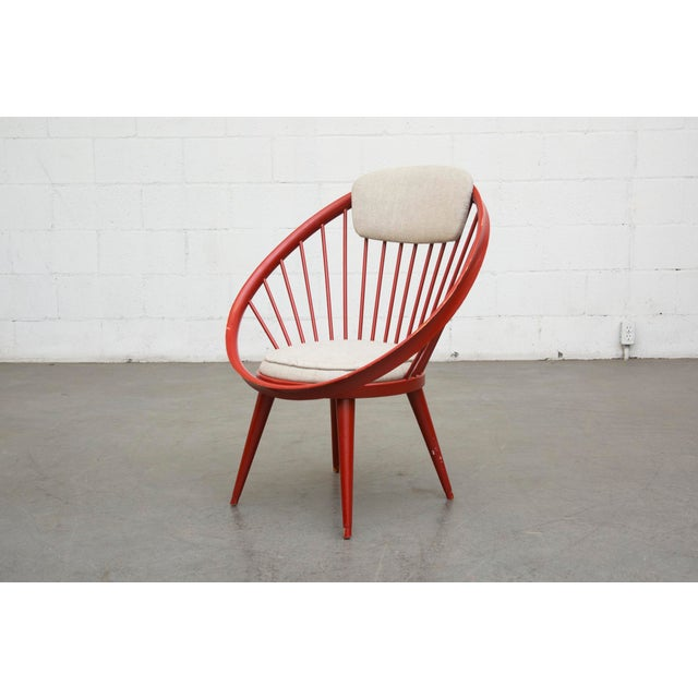 Swedish Red Hoop Lounge Chair - Image 2 of 11
