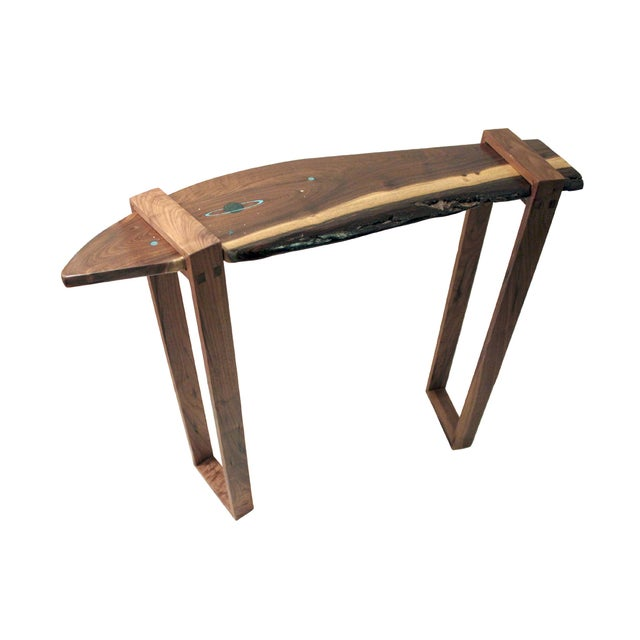 Saturn Inlaid Walnut Console Table - Image 1 of 4