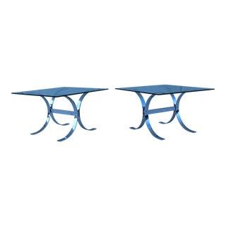 1970's Chrome Side Tables - A Pair