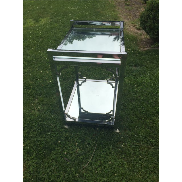Mid-Century Chrome Bar Cart - Image 6 of 6