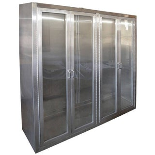 Stainless Steel Medical Cabinet with glass doors