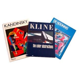 De Kooning, Kandinsky & Klein Art Books - S/3