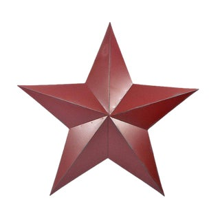 Traditional Amish Red Barn Star