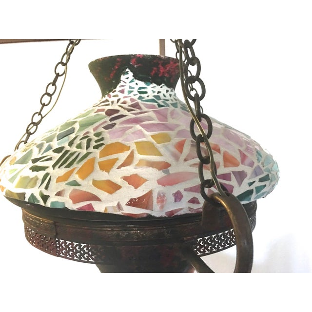 Vintage 1940s Mosaic Ceiling Lamp - Image 8 of 10