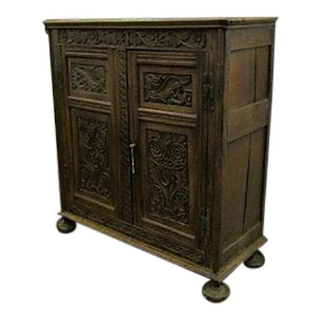 17th-Century Welsh Carved Oak Cupboard - Image 1 of 6