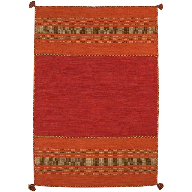 "Pasargad Rustic Kilim Collection Rug- 5' 2""x7' 6"" - Image 2 of 3"
