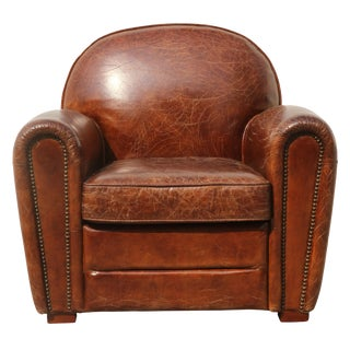 Pasargad Leather Paris Club Chair