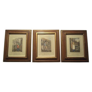 Antique English Book Prints - Set of 3